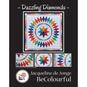 Dazzling Diamonds Pattern & Foundation Papers by Jacqueline de Jongue by BeColourful Quilts by Jacqueline de Jongue - BeColourful - Jacqueline de Jongue