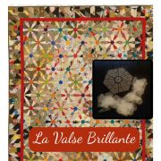 """La Valse Brillante Mylar English Piecing Template Set from Millefiori Quilts - 3/4"""" Inner Hexagon makes 3"""" block by  Mylar Templates - OzQuilts"""