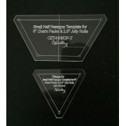 """Small Half Hexagon Template for 5"""" Charm Packs & 2.5"""" Jelly Rolls by OzQuilts - OzQuilts Templates"""