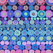 Row Flowers - Blue by The Kaffe Fassett Collective - Row Flowers