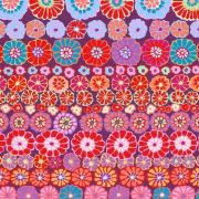 Row Flowers - Red by The Kaffe Fassett Collective - Row Flowers