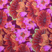 Lake Blossoms - Red by The Kaffe Fassett Collective - Lake Blossoms