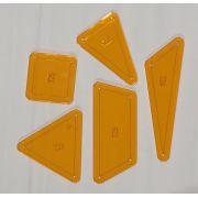 In Orbit Tempter Patchwork Template set by Jen Kingwell Designs by Jen Kingwell Designs Jen Kingwell Designs Templates - OzQuilts