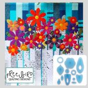 Indah Blossoms Acrylic Template Set by Carolyn Murfitt of Free Bird Quilting by Free Bird Quilting Designs Creative Abundance Templates - OzQuilts