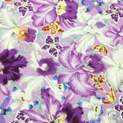 Orchids - Cool by The Kaffe Fassett Collective - Orchids
