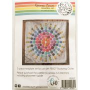Radiating Circles Acrylic Template Set by Freebird Designs by Free Bird Quilting Designs Creative Abundance Templates - OzQuilts