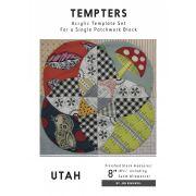 Utah Tempter Patchwork Template Set by Jen Kingwell by Jen Kingwell Designs Jen Kingwell Designs Templates - OzQuilts