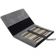 "Lykke Straight Knitting Needle Set 14"" Long in a Charcoal Folding Case by Lykke - Knitting Needles"