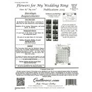Flowers For My Wedding Ring Pattern & Foundation papers by Quiltworx - Judy Niemeyer Quiltworx