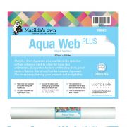 Matilda's Own Aquaweb Plus (Adhesive Back) 50cm wide x 9.1 metre roll by Matilda's Own Stabiliser & Interfacing - OzQuilts