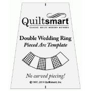Quiltsmart Double Wedding Ring Acrylic Template for Pieced Arcs by Quiltsmart - Quiltsmart Kits