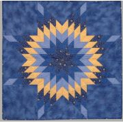 """Quiltsmart 38"""" Lone Star Pattern Printed Interfacing & Instructions Pack by Quiltsmart - Quiltsmart Kits"""