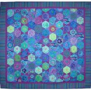 Mediterranean Hexagons Quilt Template Set  -from Kaffe Fassett's Quilts in Morocco by OzQuilts - Custom Quilt Template Sets