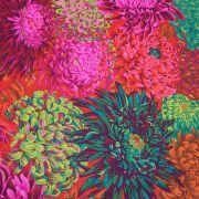 Japanese Chrysanthemum - Scarlet by The Kaffe Fassett Collective - Japanese Chrysanthemum