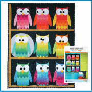 Hootsville Quilt and Pillow Quilt Kit by Shayla Wolf by Windham Fabrics Kits - OzQuilts