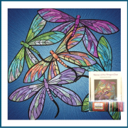 Dance of the Dragonfly Quilt Kit in Sapphire by JoAnn Hoffman - Kits