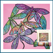 Dance of the Dragonfly Quilt Kit in Rose by JoAnn Hoffman - Kits
