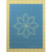 Full Line Stencil Petal Star 6 1/4″ by Hancy Full Line Stencils Pounce Pads & Quilt Stencils - OzQuilts
