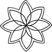 Full Line Stencil Petal Star 6 1/4″ by Hancy Full Line Stencils - Pounce Pads & Quilt Stencils