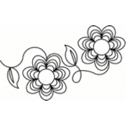 Full Line Stencil Kloster Flower by Hancy Full Line Stencils - Pounce Pads & Quilt Stencils