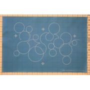 Full Line Stencil Bubbles by Dave Hudson by Hancy Full Line Stencils - Pounce Pads & Quilt Stencils