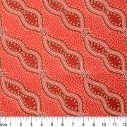 Bush Spinifex in Tango Red Australian Aboriginal Art Fabric by Geraldine Riley by M & S Textiles Cut from the Bolt - OzQuilts