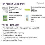 Tropical Pineapple Tote Cut Loose Press Pattern by Jean Ann Wright by Cut Loose Press Patterns Cut Loose Press Patterns - OzQuilts