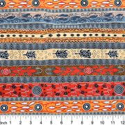 Dreaming in One Flame Orange by Bradley Stafford by M & S Textiles - Cut from the Bolt