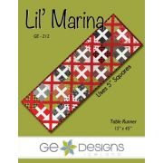 """Lil Marina Table Runner pattern made from 5"""" squares by Gudrun Erla by GE Designs Table Toppers, Tuffets & Runners - OzQuilts"""