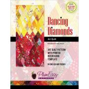 Dancing Diamonds Art Quilt Pattern with Printed Interfacing Template by PlumEasy Patterns - Bag Patterns