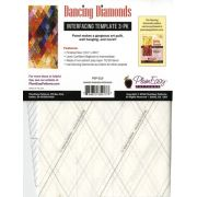 Dancing Diamonds Interfacing Template 3-pack, by Claire Haillot by PlumEasy Patterns - Quiltsmart & Grid