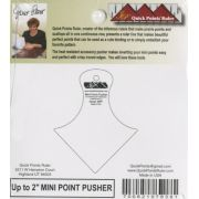 Quick Points Mini Point Pusher up to 2 inches by Quick Points Ruler Quick Points Rulers  - OzQuilts