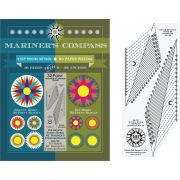 Robin Ruth 32 Point Mariner's Compass Book and Ruler - Strip Piecing Method by Robin Ruth Designs - Robin Ruth