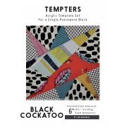 Black Cockatoo Tempter Patchwork Quilt Block Template set by Jen Kingwell Designs by Jen Kingwell Designs Jen Kingwell Designs Templates - OzQuilts