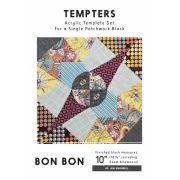 Bon Bon Tempter Patchwork Quilt Block Template set by Jen Kingwell Designs by Jen Kingwell Designs Jen Kingwell Designs Templates - OzQuilts