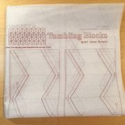 Quiltsmart Tumbling Blocks Printed Interfacing Panels by Quiltsmart - Quiltsmart Kits