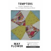 May Flower Tempter Patchwork Quilt Block Template set by Jen Kingwell Designs by Jen Kingwell Designs Jen Kingwell Designs Templates - OzQuilts
