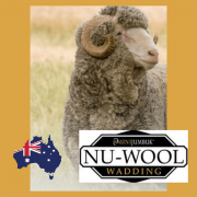 Nu-wool 60% Wool 40% Polyester Batting, 30 metres x 2.4 metres by Nu-Wool Wadding - Bulk Rolls of Batting