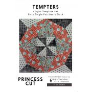 Princess Cut Tempter Patchwork Quilt Block Template set by Jen Kingwell Designs by Jen Kingwell Designs Jen Kingwell Designs Templates - OzQuilts