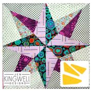 North Star Tempter Patchwork Quilt Block Template set by Jen Kingwell Designs by Jen Kingwell Designs - Jen Kingwell Designs Templates