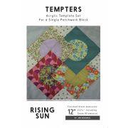 Rising Sun Tempter Patchwork Quilt Block Template set by Jen Kingwell Designs by Jen Kingwell Designs Jen Kingwell Designs Templates - OzQuilts