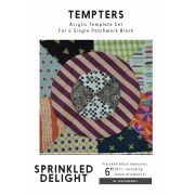 Sprinkled Delight Tempter Patchwork Quilt Block Template set by Jen Kingwell Designs by Jen Kingwell Designs Jen Kingwell Designs Templates - OzQuilts