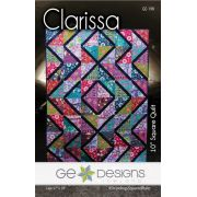 Clarissa Quilt Pattern For the Stripology Squared Ruler by Gudrun Erla by GE Designs Quilt Patterns - OzQuilts