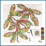 The Modern Dragonfly Quilt Kit Includes Fabric and Pattern - White by JoAnn Hoffman - Kits