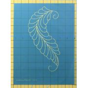 Full Line Stencil Georgian Feather by Hancy Full Line Stencils Pounce Pads & Quilt Stencils - OzQuilts