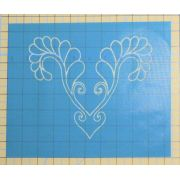 Full Line Stencil Secret Heart Feather by Hancy Full Line Stencils Pounce Pads & Quilt Stencils - OzQuilts