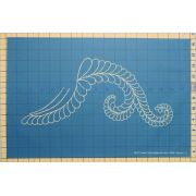 Full Line Stencil Fancy Feather I by Hancy Full Line Stencils Pounce Pads & Quilt Stencils - OzQuilts
