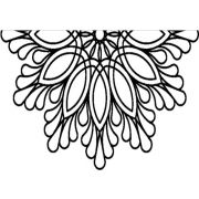 "Full Line Stencil Feather Doily 14"" by Hancy Full Line Stencils Pounce Pads & Quilt Stencils - OzQuilts"