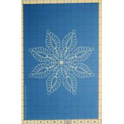 Full Line Stencil Feather Star, 8 Point by Hancy Full Line Stencils Pounce Pads & Quilt Stencils - OzQuilts