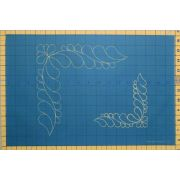Full Line Stencil Feather Corner, 2x by Hancy Full Line Stencils Pounce Pads & Quilt Stencils - OzQuilts